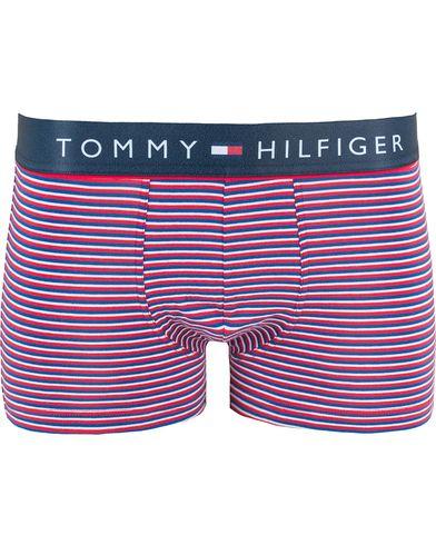 Tommy Hilfiger Cotton Flex  Striped Trunk Tango Red i gruppen Underkläder hos Care of Carl (13449111r)