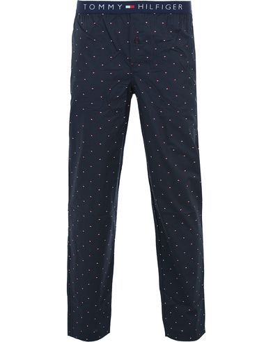 Tommy Hilfiger Icon Woven Mini Flag Pyjama Pants Navy Blazer i gruppen Klær / Undertøy / Pyjamaser / Pyjamasbukser hos Care of Carl (13449311r)