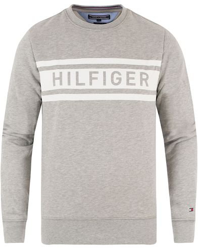 Tommy Hilfiger Denton Crew Neck Sweatshirt Cloud Heather i gruppen Klær / Gensere / Sweatshirts hos Care of Carl (13449711r)