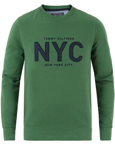 Tommy Hilfiger Andrew Crew Neck Sweatshirt Fairway Green i gruppen Kläder / Tröjor / Sweatshirts hos Care of Carl (13449811r)
