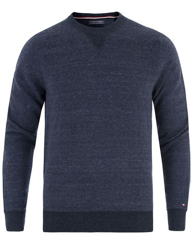 Tommy Hilfiger Soft Loop Back Knitted Crew Neck Navy Blazer Heather i gruppen Klær / Gensere / Strikkede gensere hos Care of Carl (13449911r)