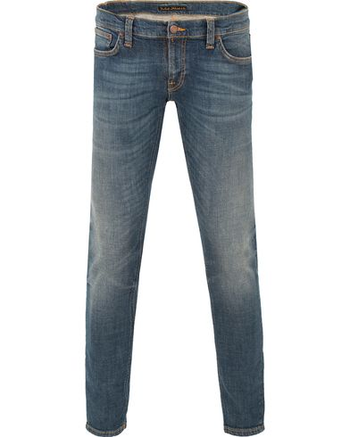 Nudie Jeans Long John Organic Slim Fit Stretch Jeans Orange T i gruppen Klær / Jeans / Smale jeans hos Care of Carl (13451311r)