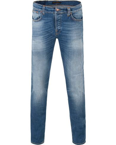 Nudie Jeans Grim Tim Organic Slim Fit Stretch Jeans Orange C i gruppen Jeans / Smale jeans hos Care of Carl (13451411r)