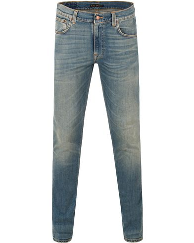 Nudie Jeans Lean Dean Organic Slim Fit Stretch Jeans Silver L i gruppen Jeans / Smala jeans hos Care of Carl (13451811r)