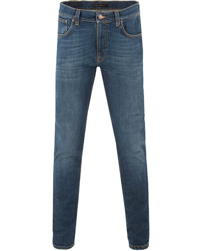 Nudie Jeans Lean Dean Organic Slim Fit Stretch Jeans Mellow O i gruppen Jeans / Smala jeans hos Care of Carl (13452211r)