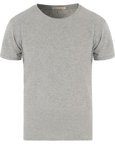 Nudie Jeans Olle Oversize Crew Neck Tee Grey Melange i gruppen T-Shirts hos Care of Carl (13453111r)