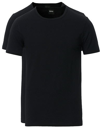 Boss 2-Pack Crew Neck Slim Fit Tee Black i gruppen T-Shirts / Kortermede t-shirts hos Care of Carl (13453711r)