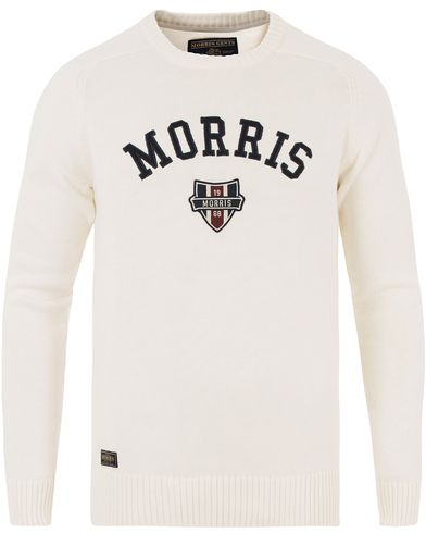 Morris Sayer Knit Off White i gruppen Gensere / Strikkede gensere hos Care of Carl (13454111r)