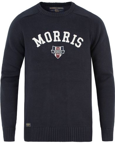 Morris Sayer Knit Old Blue i gruppen Klær / Gensere / Strikkede gensere hos Care of Carl (13454211r)