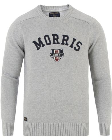 Morris Sayer Knit Grey Melange i gruppen Gensere / Strikkede gensere hos Care of Carl (13454311r)