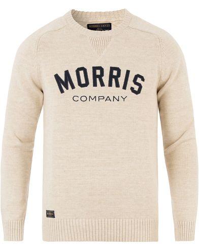 Morris Douglas Oneck Off White i gruppen Tröjor / Stickade tröjor hos Care of Carl (13454411r)