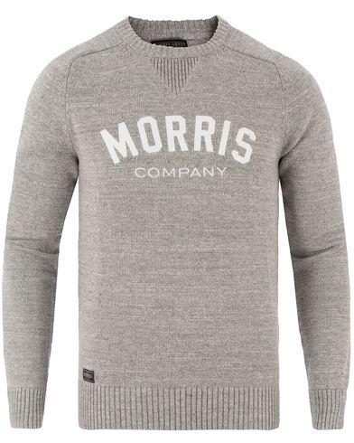 Morris Douglas Oneck Grey Melange i gruppen Kläder / Tröjor / Stickade tröjor hos Care of Carl (13454511r)