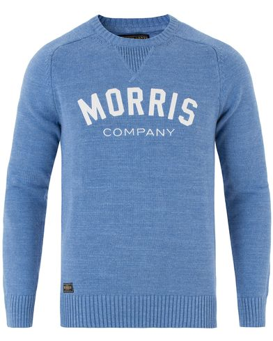 Morris Douglas Oneck Light Blue i gruppen Klær / Gensere / Strikkede gensere hos Care of Carl (13454711r)