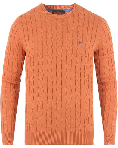 Morris Pima Cotton Cable Orange i gruppen Klær / Gensere / Strikkede gensere hos Care of Carl (13454811r)