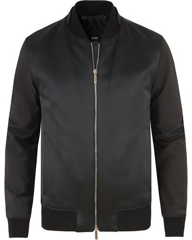 BOSS T-Camby Luxurious Shell Bomber Jacket Black i gruppen Klær / Jakker / Bomberjakker hos Care of Carl (13456111r)