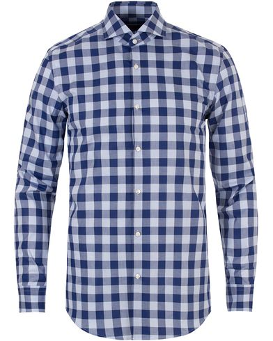 Boss Jason Check Slim Fit Shirt Navy i gruppen Skjortor / Casual skjortor hos Care of Carl (13456811r)