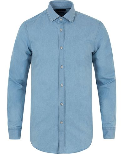Boss Isaak Indigo Denim Slim Fit Shirt Open Blue i gruppen Skjorter / Jeansskjorter hos Care of Carl (13456911r)