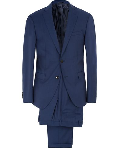 BOSS Reyno/Wave Super 120 Wool Suit Medium Blue i gruppen Klær / Dresser hos Care of Carl (13457411r)