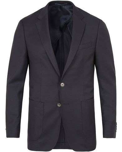 BOSS Nordan Natural Stretch Wool Blazer Navy i gruppen Klær / Dressjakker / Enkeltspente dressjakker hos Care of Carl (13457511r)