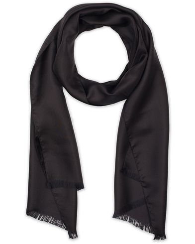 Boss Silk Scarf Black  i gruppen Assesoarer / Scarves hos Care of Carl (13457610)