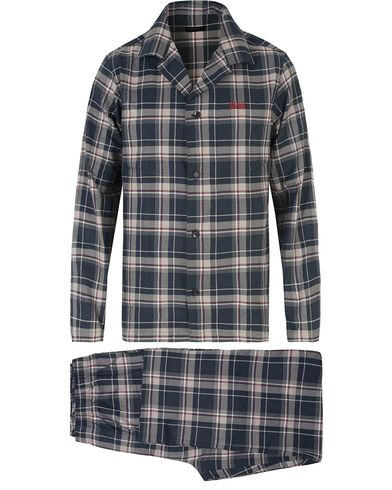 Boss Pyjma Flannel Set 4  Open Blue i gruppen Undertøy / Pyjamaser / Pyjamassett hos Care of Carl (13458011r)