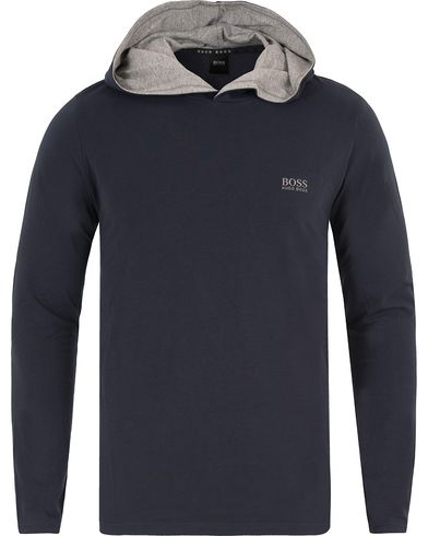 BOSS Long Sleeve Hooded Tee Dark Blue i gruppen Kläder / Underkläder / Pyjamas / Pyjamaströjor hos Care of Carl (13458411r)