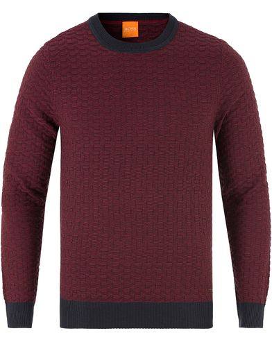 Boss Orange Kuvudo Cotton/Silk Knitted Crew Neck Sky Captain i gruppen Gensere / Strikkede gensere hos Care of Carl (13459111r)