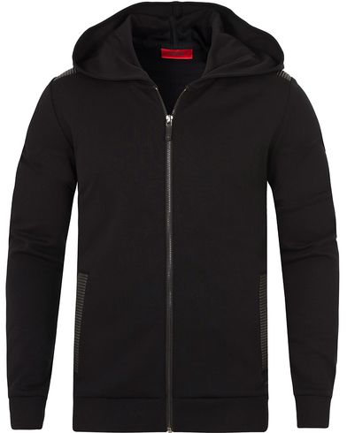 HUGO Dellagio Zip Hood Black i gruppen Tröjor / Huvtröjor hos Care of Carl (13459811r)