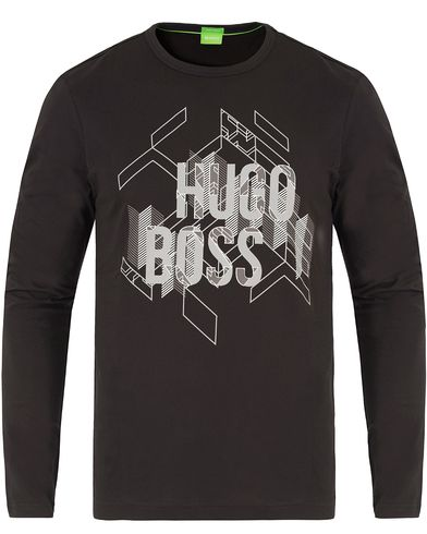 Boss Green Tognos Printed Tee Black i gruppen T-Shirts / L�ng�rmad T-shirt hos Care of Carl (13460911r)