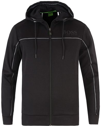 Boss Green Saggy Zip Hood Black i gruppen Gensere / Hettegensere hos Care of Carl (13461011r)