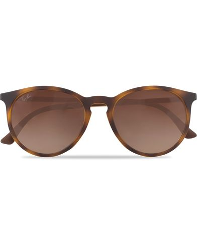 Ray-Ban 0RB4274 Round Sunglasses Light Havana Rubber  i gruppen Accessoarer / Solglasögon / Runda solglasögon hos Care of Carl (13461210)