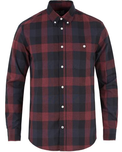 NN07 New Derek Flannel Check Shirt Red i gruppen Skjorter / Flanellskjorter hos Care of Carl (13461511r)