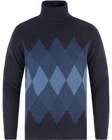 NN07 Argyle Rollneck Navy i gruppen Gensere / Pologensere hos Care of Carl (13461611r)