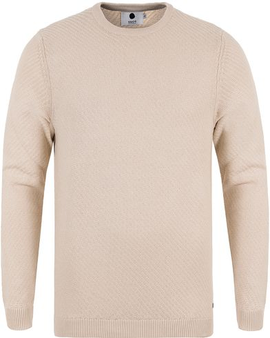 NN07 Thomas Cotton Knit Off White i gruppen Gensere / Strikkede gensere hos Care of Carl (13461711r)