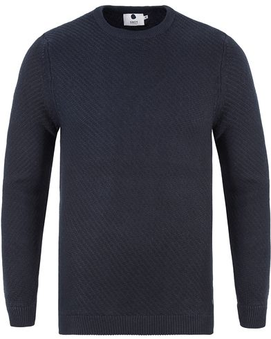 NN07 Thomas Cotton Knit Navy i gruppen Gensere / Strikkede gensere hos Care of Carl (13461811r)