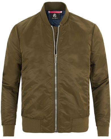 PS by Paul Smith Nylon Bomber Jacket Military Green i gruppen Jackor / Bomberjackor hos Care of Carl (13462211r)