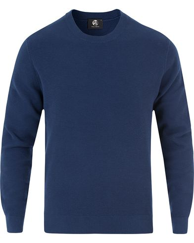 PS by Paul Smith Waffle Knit Sweater Indigo i gruppen Klær / Gensere / Strikkede gensere hos Care of Carl (13462411r)