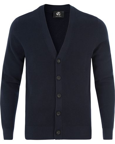 PS by Paul Smith Waffle Cotton Cardigan Navy i gruppen Gensere / Cardigans hos Care of Carl (13462511r)