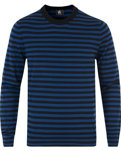 PS by Paul Smith Merino Stripe Sweater Blue/Black i gruppen Tröjor / Pullovers / Rundhalsade pullovers hos Care of Carl (13462611r)