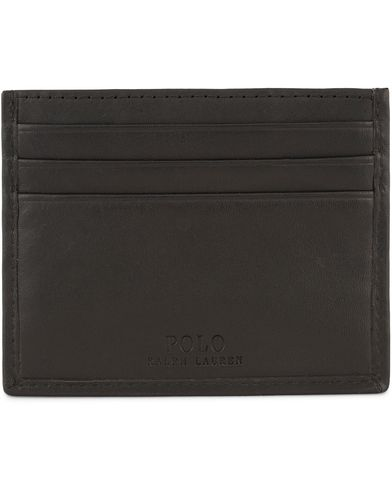 Polo Ralph Lauren Leather Credit Card Holder Black  i gruppen Assesoarer / Lommebøker / Kortholdere hos Care of Carl (13464810)
