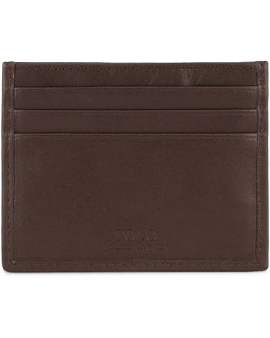 Polo Ralph Lauren Leather Credit Card Holder Mahogany Brown  i gruppen Accessoarer / Plånböcker / Korthållare hos Care of Carl (13464910)