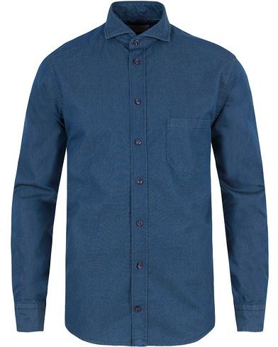 Eton Slim Fit Denim Shirt Blue i gruppen Skjortor / Jeansskjortor hos Care of Carl (13465011r)
