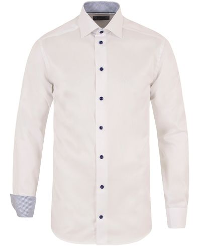 Eton Slim Fit Contrast Shirt White i gruppen Skjortor / Businesskjortor hos Care of Carl (13465111r)