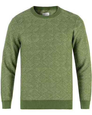 Gant Rugger R. Structure Crew Neck Chlorophyll Green i gruppen Kläder / Tröjor / Stickade tröjor hos Care of Carl (13465311r)