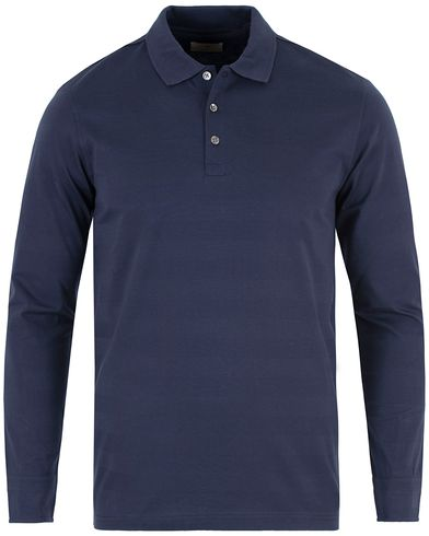 Gant Diamond G G. Tonal Stripe Long Sleeve Polo Marine i gruppen Pikéer / Langermet piké hos Care of Carl (13466111r)