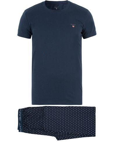 Gant Pyjama Star Set Tee Navy i gruppen Underkläder / Pyjamas / Pyjamasset hos Care of Carl (13467211r)