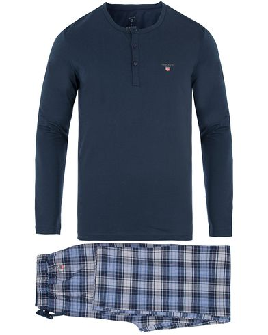 GANT Pyjama Flannel Check Pants With Heley Navy i gruppen Klær / Undertøy / Pyjamaser / Pyjamassett hos Care of Carl (13467311r)