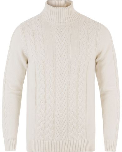 Gant Cable Turtleneck Eggshell i gruppen Tröjor / Polotröjor hos Care of Carl (13468411r)