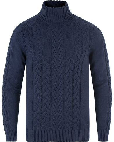 Gant Cable Turtleneck Marine i gruppen Tröjor / Polotröjor hos Care of Carl (13468511r)
