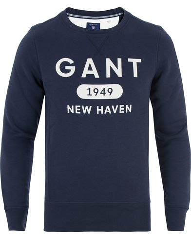 Gant Athletic Sweatshirt Thunder Blue i gruppen Tröjor / Sweatshirts hos Care of Carl (13468611r)